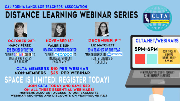 CLTA announces its FALL 2020 Webinar Series